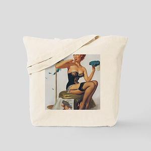 Classic Elvgren 1950s Pin Up Girl Tote Bag