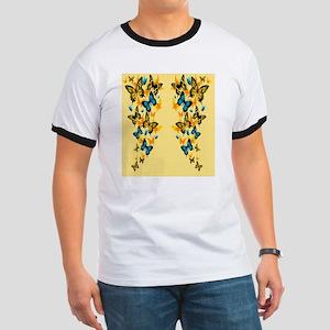 Yellow Butterflies Ringer T