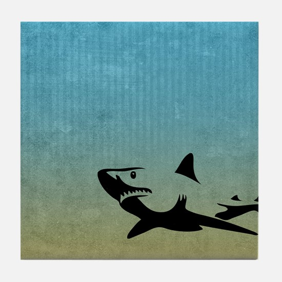Great White Tile Coaster