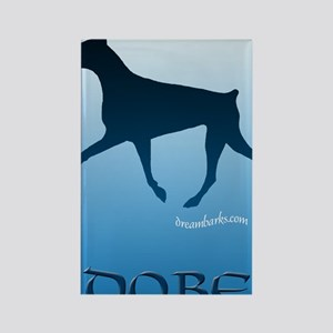 Sky Blue Dobe Rectangle Magnet
