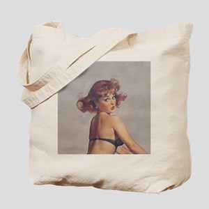 Classic Elvgren 1950s Pin Up Girl Tote Bag