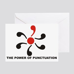 The Power of Punctuation 8 Greeting Card