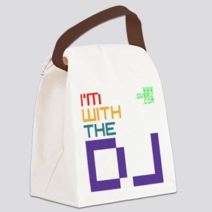 Im with the DJ Canvas Lunch Bag