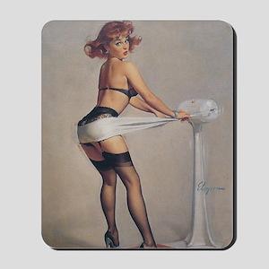 Classic Elvgren 1950s Pin Up Girl Mousepad