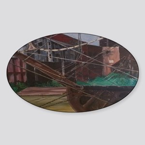Shipyard Mini Poster Sticker (Oval)
