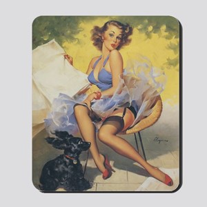 Classic Elvgren 1950s Vintage Pin Up Gir Mousepad