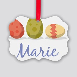 Easter Egg Marie Picture Ornament