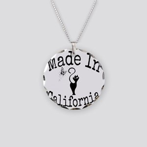 Made In California Necklace Circle Charm