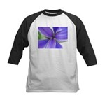 Lavender Iris Kids Baseball Jersey