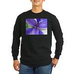 Lavender Iris Long Sleeve Dark T-Shirt