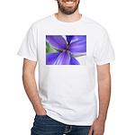 Lavender Iris White T-Shirt
