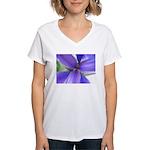Lavender Iris Women's V-Neck T-Shirt