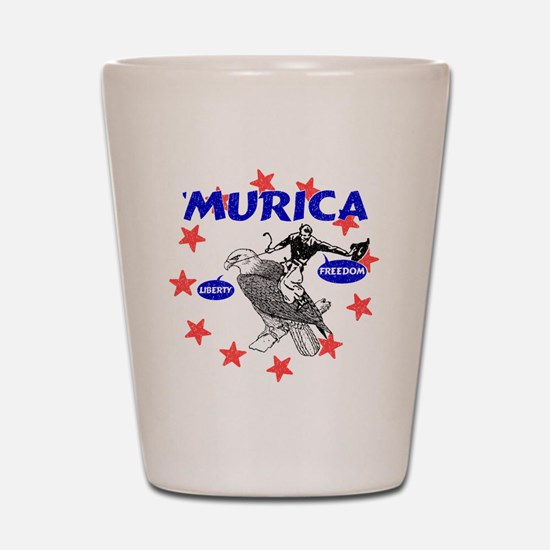 Murica Eagle and Cowboy Shot Glass