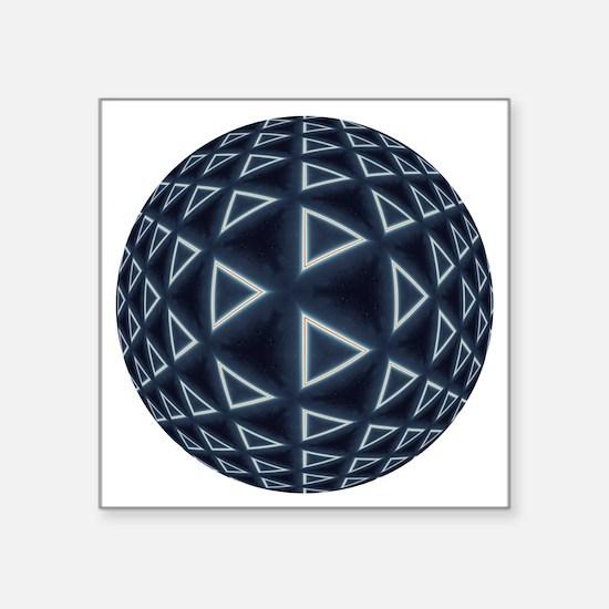 """Triangle World Square Sticker 3"""" x 3"""""""
