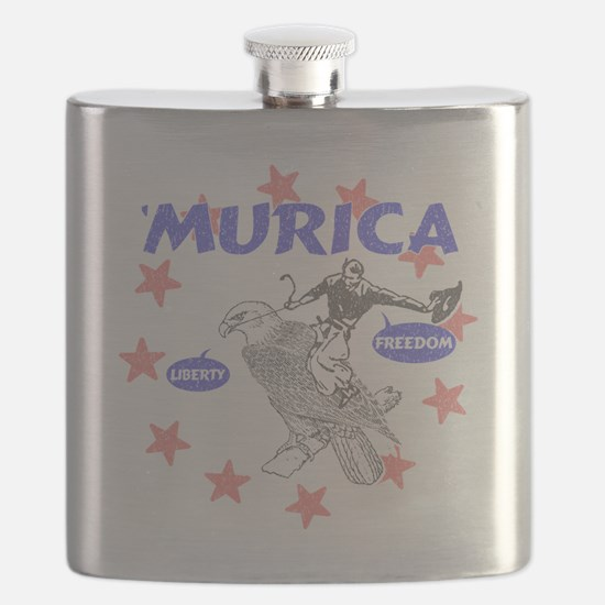 Murica Liberty and Freedom Flask