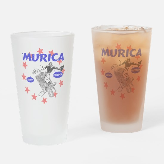 Murica Liberty and Freedom Drinking Glass