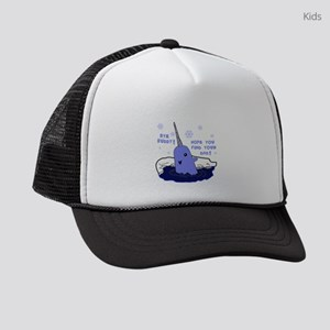 Buddy Elf Narwhal Kids Trucker hat