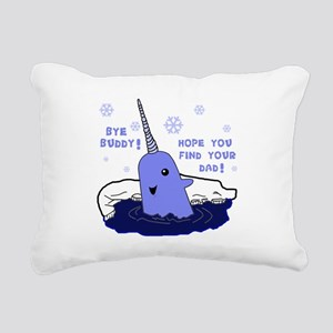 Buddy Elf Narwhal Rectangular Canvas Pillow