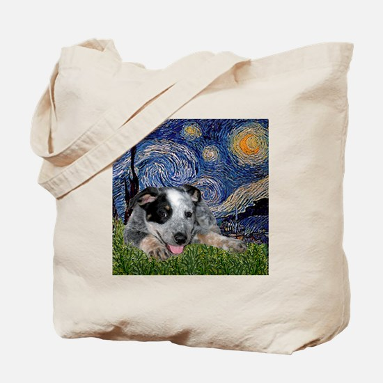 Starry-AussieCattleDogPup Tote Bag