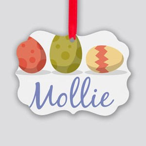 Easter Egg Mollie Picture Ornament