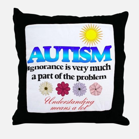 autism ignorance designer Throw Pillow