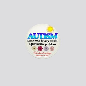 autism ignorance designer Mini Button