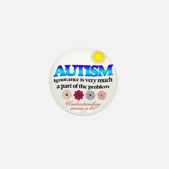 autism ignorance designer Mini Button