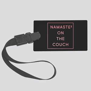 Namaste On The Couch Large Luggage Tag