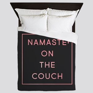 Namaste On The Couch Queen Duvet