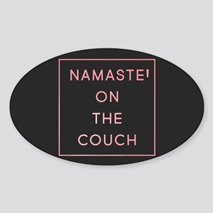 Namaste On The Couch Sticker (Oval)