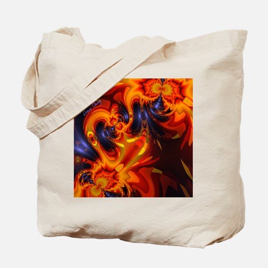 Abstract Fractal Dance of the Dragons Tote Bag