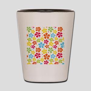 Hippie Flowers Shot Glass