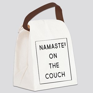 Namaste On The Couch Canvas Lunch Bag