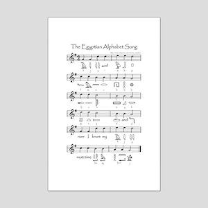 Egyptian Alphabet Mini Poster Print