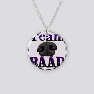 Team Baad Banner Necklace Circle Charm
