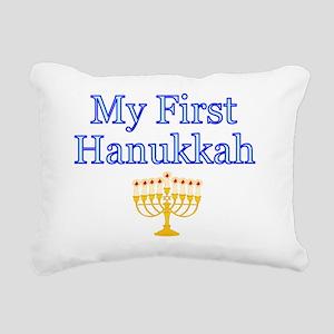 My First Hanukkah Rectangular Canvas Pillow