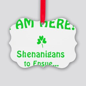 I am here! Shenanigans to Ensue.. Picture Ornament