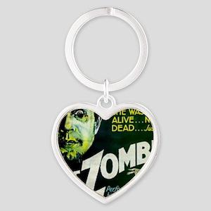 white zombie Heart Keychain