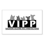 Vashon Island Pet Protectors Rectangle Sticker