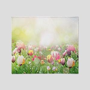 Spring Meadow Throw Blanket