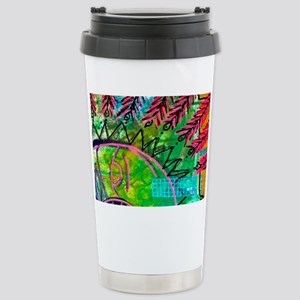 Sun Spots Colorful Abst Stainless Steel Travel Mug
