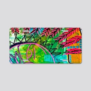 Sun Spots Colorful Abstract Aluminum License Plate