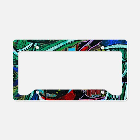 Warrior Vision Colorful Abstr License Plate Holder