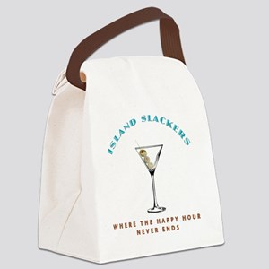 HAPPY HOUR blk Canvas Lunch Bag