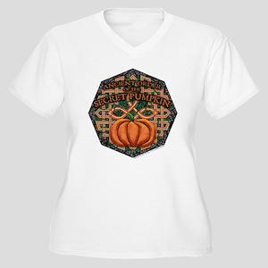 Secret Pumpkin Women's Plus Size V-Neck T-Shirt