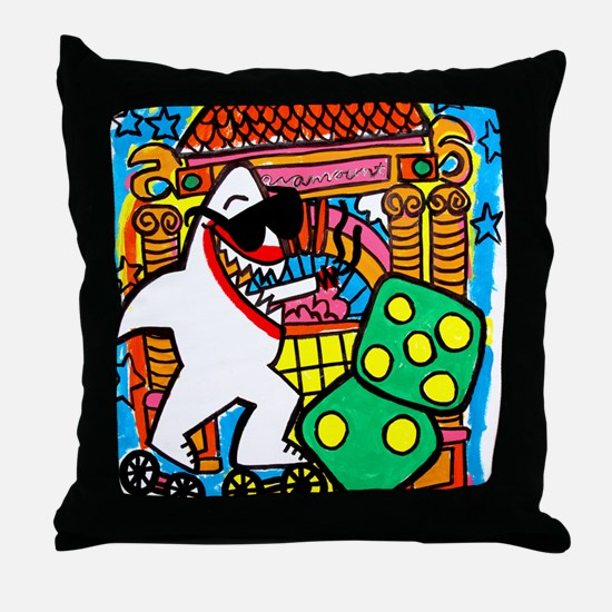 Sharks in the City: Paramount Picture Throw Pillow