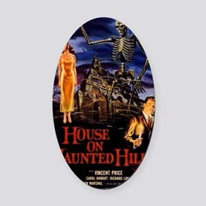 house on haunted hill Oval Car Magnet