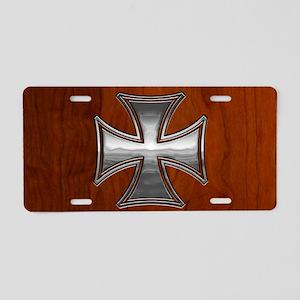 malt-wood-OV Aluminum License Plate