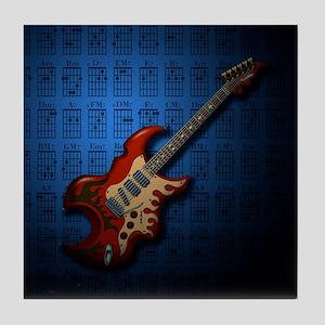 KuuMa Guitar 01 (B) Tile Coaster