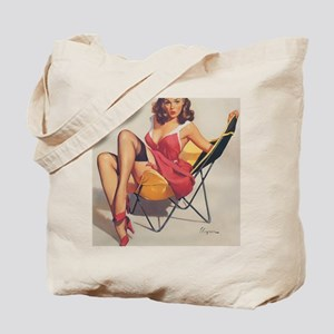 Classic Elvgren 1950s Vintage Pin Up Girl Tote Bag